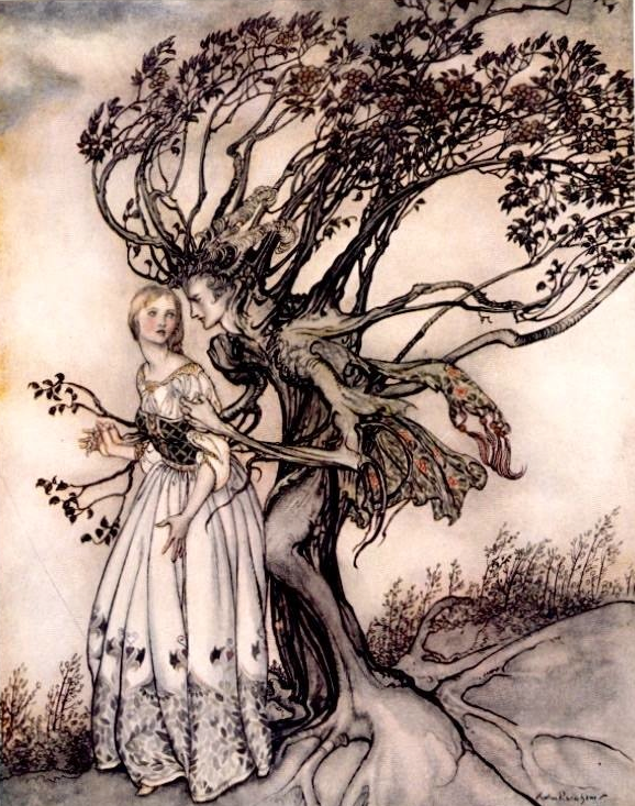 brothers grimm tree girl fairy tale