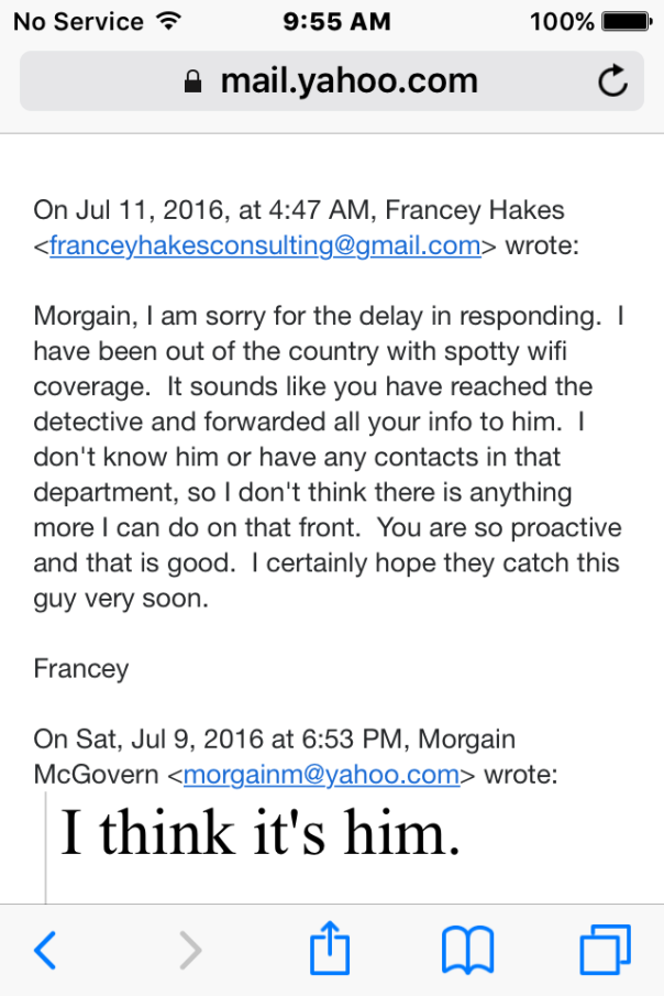 Francey Hakes Steve Davis Proactive email copy