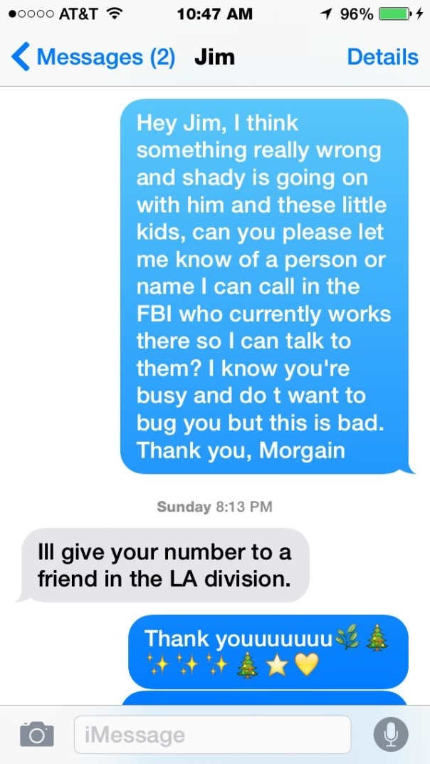 Jim Rainbow texts ill give your number to a friend Ben Stein kids photos copy