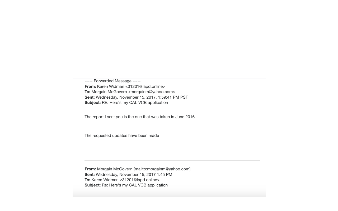 Karen Widman email toddler and kids photos updated Ben Stein police report