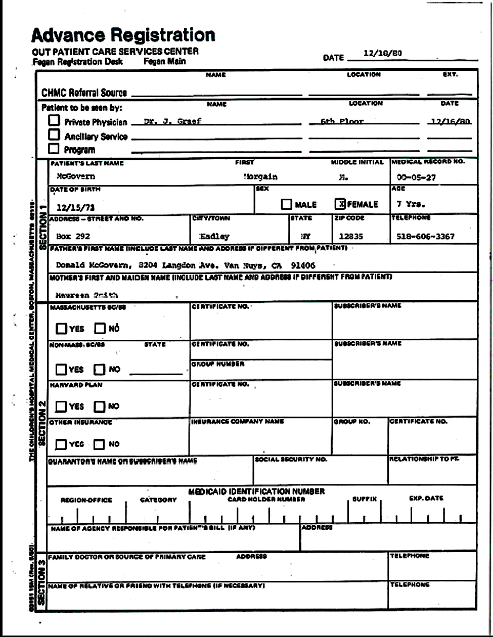 Boston Childrens Hospital page 1 Dr Graef records copy