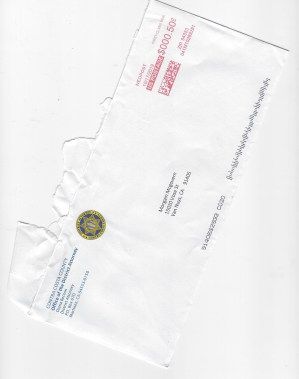 Paul Holes Contra Costa District Attorney envelope investigation letter