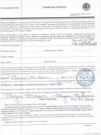 Maureen Alice Smith McGovern Signed FOIA documents for Countess book 2012 3