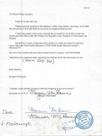 Maureen Alice Smith McGovern Signed FOIA documents for Countess book 2012 8