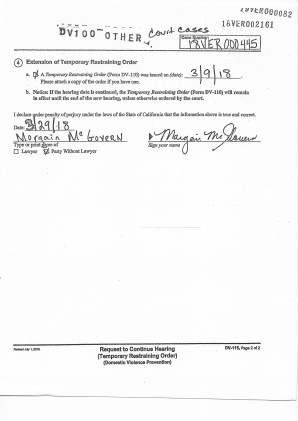 William Birch Davis Temporary Restraining order March 9 2018 April 2 2018 granted page 1 and 2 Donald Trump & Peter Clemente RO numbers included in their RO packets 1