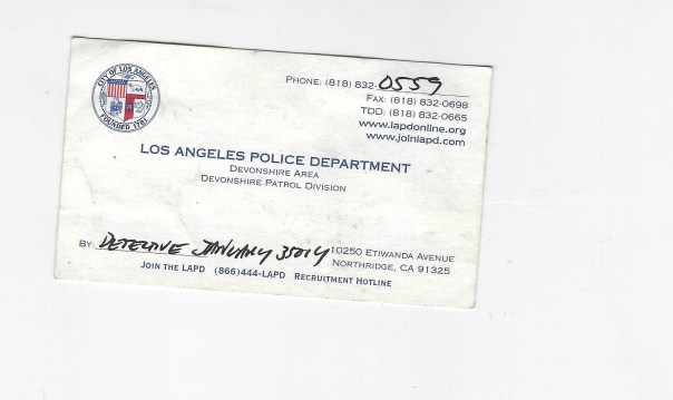 Detective January Police front card 09 30 2009 birch and steve child rape lapd devonshire September 2009 crime against child interview crime report