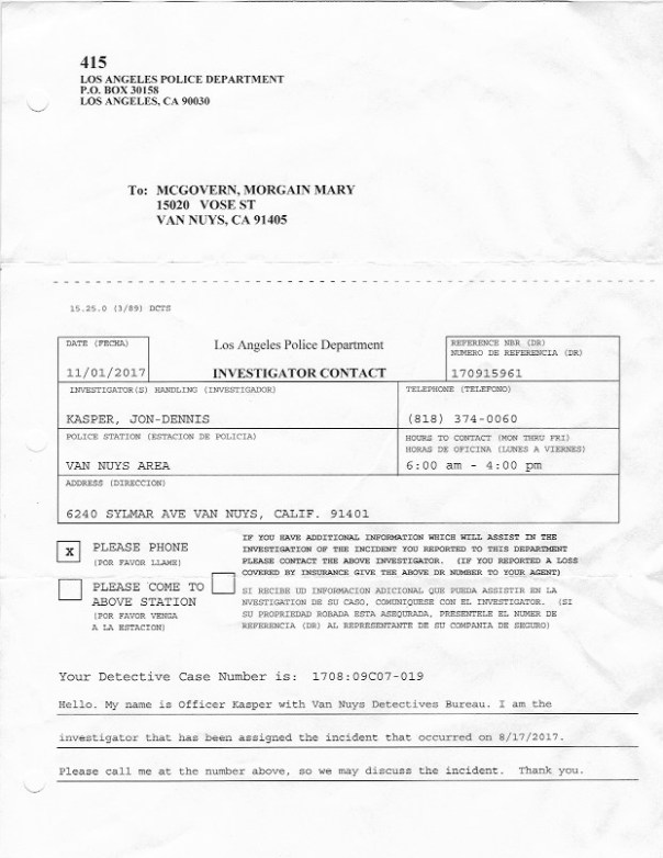 LAPD phone calls police report November 1 2017 LAPD police report 2017 LAPD Van Nuys SCAN 1 copy 5