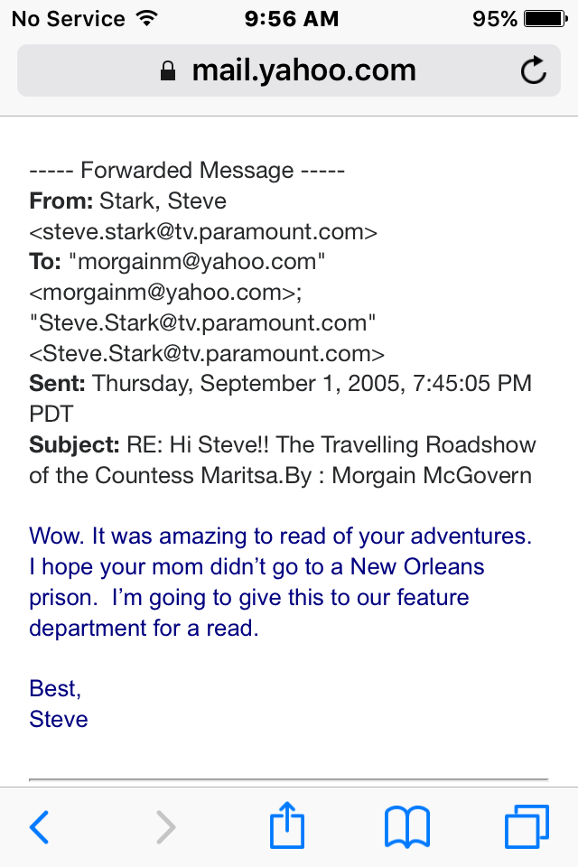 Steve Stark email 1 screenshot feature department copy