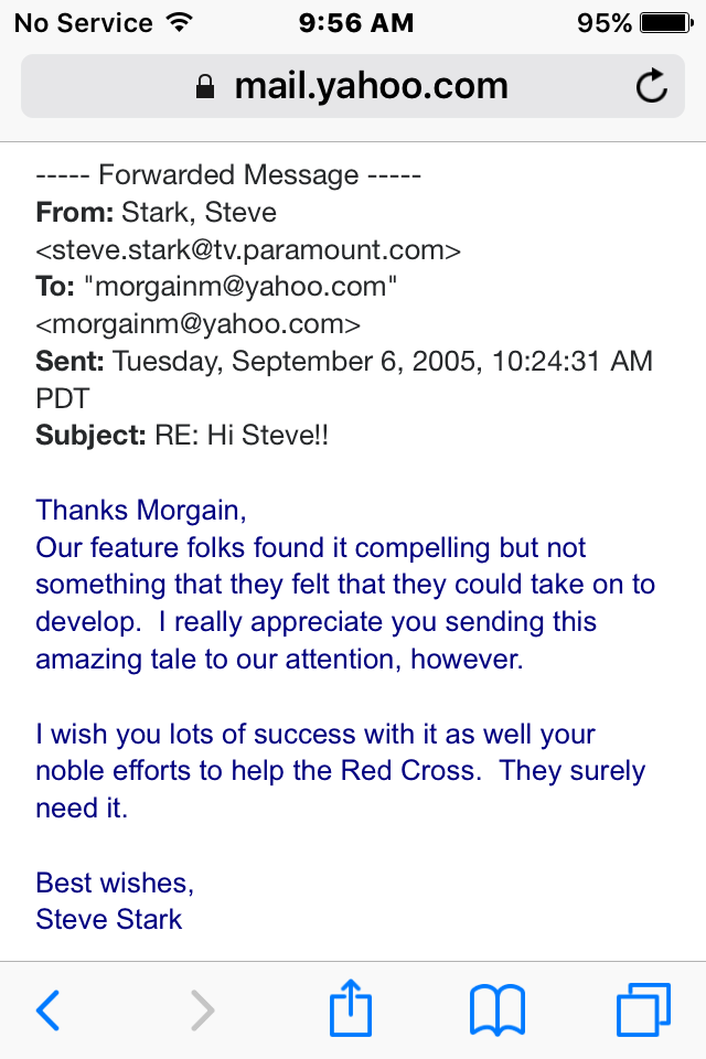Steve Stark email 2 screenshot red cross email copy